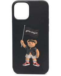 Palm Angels Pirate Bear Logo Iphone 12 Mini Case - Black