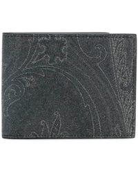 Etro Portafoglio con stampa paisley - Nero