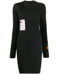 Heron Preston リブニット ドレス - ブラック