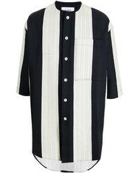 Sunnei ロングライン ストライプシャツ - ブラック