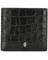 Alexander McQueen - Textured Skull Cardholder - Lyst