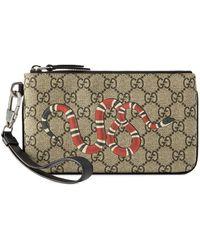 Gucci Iphone Hoesje Met Slangenprint - Bruin