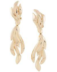 Susan Caplan - 1980s Grosse Leaf-motif Clip-on Earrings - Lyst