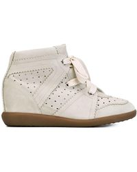 Isabel Marant - Étoile 'bobby' Concealed Wedge Sneakers - Lyst
