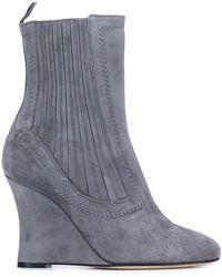 Alchimia Di Ballin Ribbed Wedge Ankle Boots - Grijs