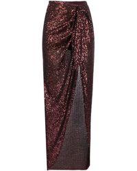 Balmain スパンコール スカート - マルチカラー