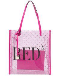 RED Valentino クリア ハンドバッグ - ピンク