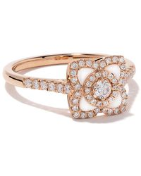 De Beers 18kt Rose Gold Enchanted Lotus Mother-of-pearl And Diamond Ring - Metallic