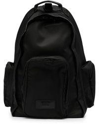 Juun.J Solid-colour Sling Backpack - Black