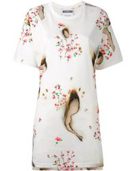 Moschino Burned Effect T-shirt Dress - Multicolor