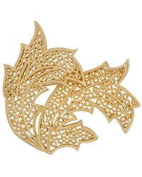 Dior 1980's Leaf Brooch - Metallic