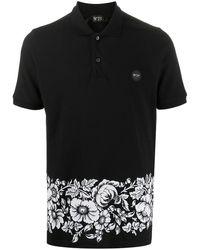 N°21 フローラル ポロシャツ - ブラック