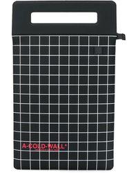 A_COLD_WALL* Bolso shopper con diseño de cuadros - Negro