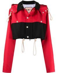 Plan C Укороченная Куртка С Капюшоном - Красный