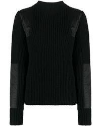 YMC Ribbed Knit Jumper - Black