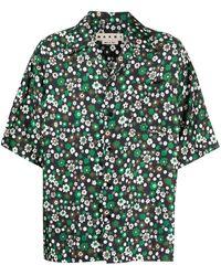 Marni Рубашка С Цветочным Принтом - Зеленый