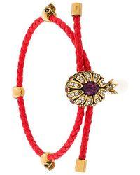 Alexander McQueen - Jewel Charm Nappa Bracelet - Lyst