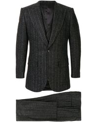 Dolce & Gabbana Pin Stripe Three Piece Suit - Grey