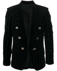 Balmain モノグラム ジャケット - ブラック