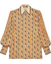 Gucci Chain Print Blouse - Multicolor