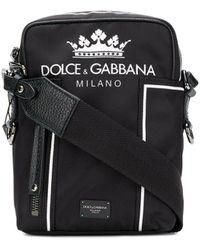 Dolce & Gabbana ロゴショルダーバッグ - ブラック
