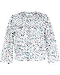 Coohem Kurze Tweed-Jacke - Weiß