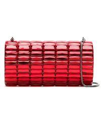 Isla Embellished Clutch - Red