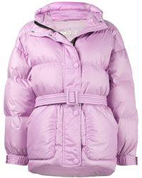 Ienki Ienki - Purple Michelin Belted Puffer Jacket - Lyst