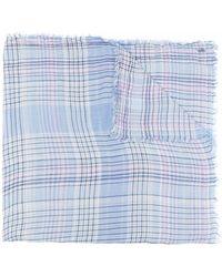 Polo Ralph Lauren フリンジ チェック スカーフ - ブルー