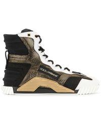 Dolce & Gabbana Высокие Кроссовки Ns1 - Черный