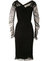 Dolce & Gabbana - Robe froncée mi-longue - Lyst