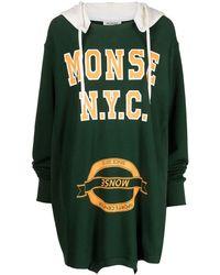Monse Vestido con capucha del revés - Verde
