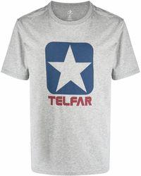 Telfar Camiseta con logo estampado - Gris