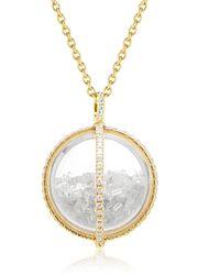 Moritz Glik Globe Shaker ダイヤモンド ネックレス 18kイエローゴールド - メタリック