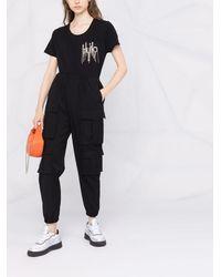 Liu Jo ロゴスタッズ Tシャツ - ブラック