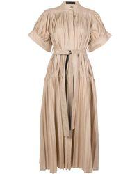 Proenza Schouler - Плиссированное Поплиновое Платье С Поясом - Lyst
