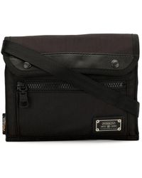 AS2OV Canvas Shoulder Bag - Black