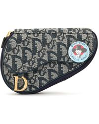 Dior Pre-owned Flight Trotter Make-up Tas - Blauw