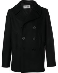 Saint Laurent Double-breasted Peacoat - Black