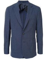 Cerruti 1881 Check Single-breasted Blazer - Blue