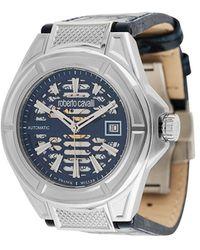 Roberto Cavalli スケルトン 42mm 腕時計 - ブルー