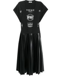 Givenchy ロゴ Tシャツワンピース - ブラック