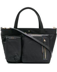 Anya Hindmarch Mini sac cabas à poches multiples - Noir