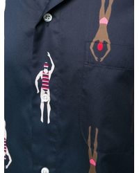 Thom Browne - スイマープリント ポロカラーシャツ - Lyst