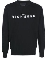John Richmond ロゴ プルオーバー - ブラック