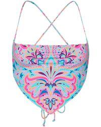 Frankie's Bikinis Top bikini Halo - Blu