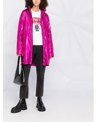 Karl Lagerfeld Ikonik メタリック パーカーコート - ピンク