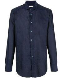 Etro Slim Fit Patterned Shirt - Синий