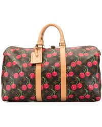 Louis Vuitton Sac de voyage Cherry Keepall x Takashi Murakami - Marron