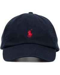 Polo Ralph Lauren Baseballkappe mit Logo-Stickerei - Blau